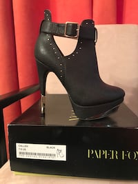 Sexy Black Booties- Paper Fox Callen Size 7.5 Silver Spring, 20902