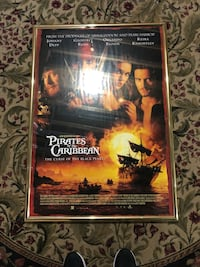 "Pirates of the Caribbean 28 1/2"" x40"" poster framed Vaughan, L6A 4C9"