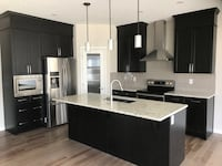 black and white wooden kitchen cabinet Calgary, T2A 3E1