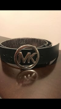 Black Mk leather belt with buckle Alexandria, 22309