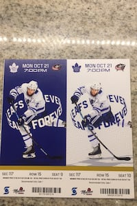 Toronto Maple Leafs tickets  October 21   Mississauga, L5G 3W6