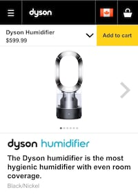 Unboxed Dyson humidifier for sale Toronto, M2N 1M5