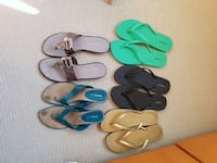 Size 11 women's sandal lot (barely used) New Westminster, V3M 0A1