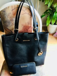 Authentic black MK tote bag with matching wallet Edmonton, T6L 6V9
