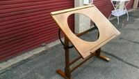 Drawing of round glass drafting table El Paso, 79930