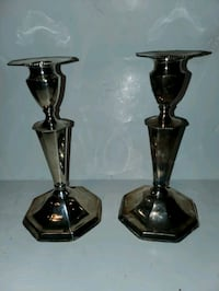 Sterling silver Victorian candlesticks marked 9100 Phoenixville, 19460
