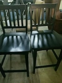 two black wooden armless chairs Lithonia, 30038