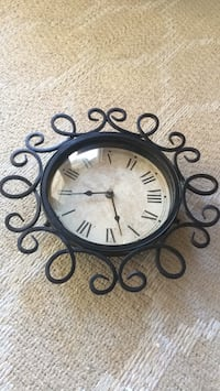 Black wrought iron framed analog wall clock Fremont, 94536
