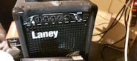 Guitar and amp laney with over drive