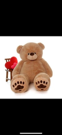 6 ft teddy bear with tag and red bow Alexandria, 22306