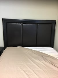 black wooden bed frame with white mattress Richmond Hill, L4C 1T5