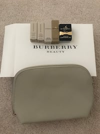 Burberry Cosmetic Bag with mini perfume and lipstick  Vaughan, L6A 4B1