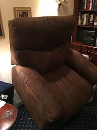Brown fabric recliner sofa chair 28 km
