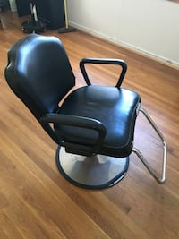 black leather padded rolling armchair New York, 11366