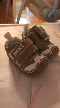 0-6m brown and white Mexx velcro sneakers Vaughan, L4L 5B8