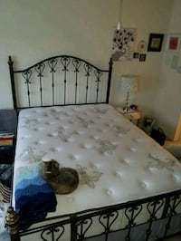 Metal 4 post Queen size bed frame (frame only) 59 km