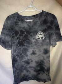black and grey tie-dyed crew-neck t-shirt huf brand size medium  St Albert, T8N 1H9