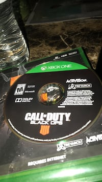 Xbox one call of duty black ops 4 game disc Silver Spring, 20906