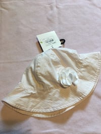 0-6 month sun hat with tags never worn pink and white  Hagerstown, 21740