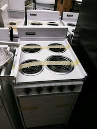 white and black 4-burner gas range oven Aspen Hill, 20906