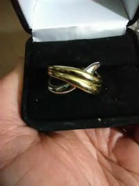 Gold plated over silver two-tone ring Stillwater, 74074