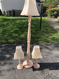 white and gray table lamp Crofton, 21114