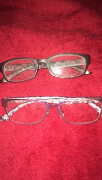 two black and pink framed eyeglasses Panama City Beach, 32413