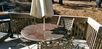 Patio Table Set. Includes 4 chairs with cushions  Columbia, 29229