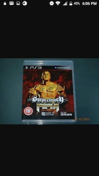 Supremach MMA PS3 game case screensho Oakfield, 38362