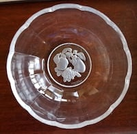 Val St. Lambert Crystal Fruit Bowl Washington