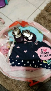 Bag of Baby girl clothes Size NB-3months Chicago, 60625
