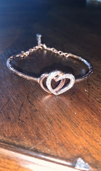 Rose Gold Plated Heart Bracelet w/ Cubic Zirconia Gainesville, 20155