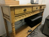 Beautiful wooden carved console table  Toronto, M5B 1V8