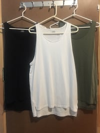 women's two white and black tank tops Montréal, H2S 2G2