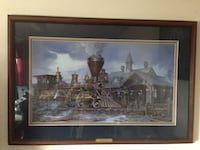 Charlestown Station by John Paul Strain LE Lithograph Manassas