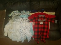Baby boy footed onsies 3-6 months Oklahoma City, 73127