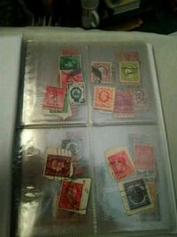 Small binder of stamps  Monroe