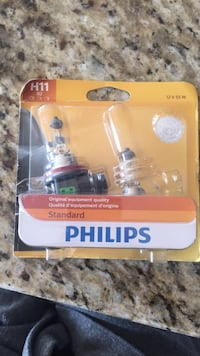 Phillips replacement headlight bulbs age 11 to 12 V 55 W