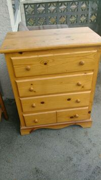 brown wooden 4-drawer chest New Westminster, V3M 1S6