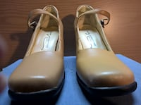 """""""Newport News - East Style"""" Genuine Leather, Mary Jane Style High Heels"""