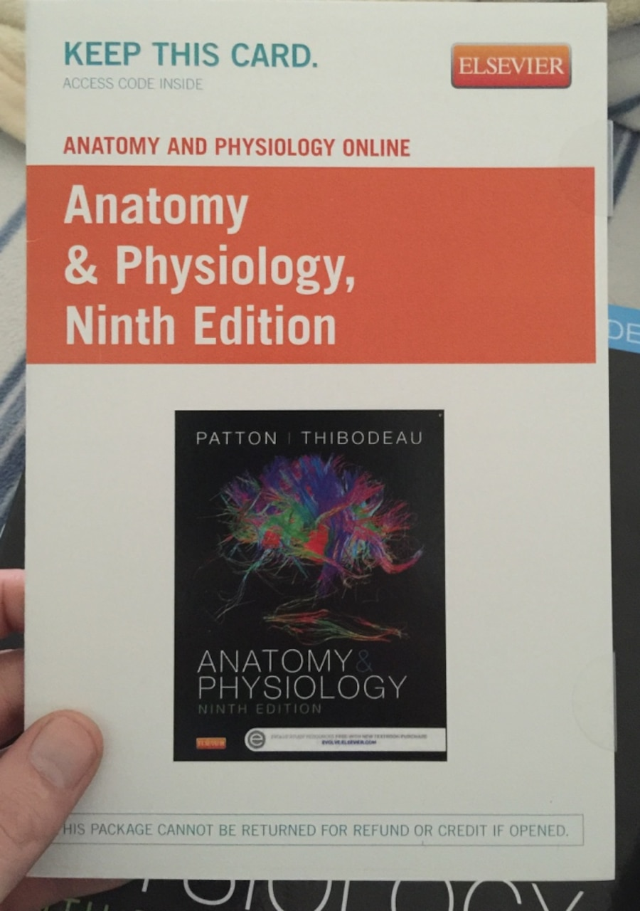 Used Anatomy and physiology 9th edition by Patton/thibodeau in ...