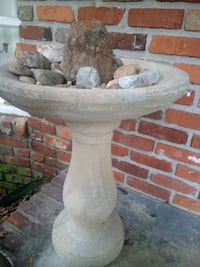 medium bird bath concrete