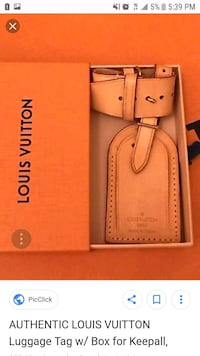 Authentic Louis Vuitton luggage tag Orange, 92866