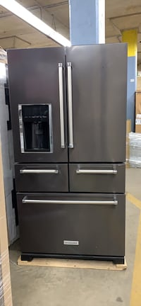 KitchenAid 25.8 cu. ft. French Door Refrigerator in Black Stainless