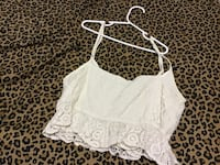 Women's vintage crop tops lace material size. Small & medium New York, 10040