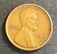 1914-S Lincoln Cent   Low Mintage  XF