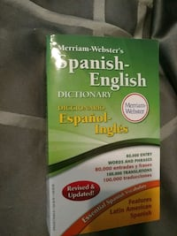 Merriam-Webster's Spanish English Dictionary book