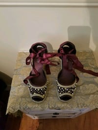 tie up wedges size 8