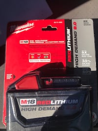 black and red Milwaukee M18 battery pack Falls Church, 22044