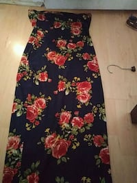 black, red, and green floral sleeveless dress Pflugerville, 78660